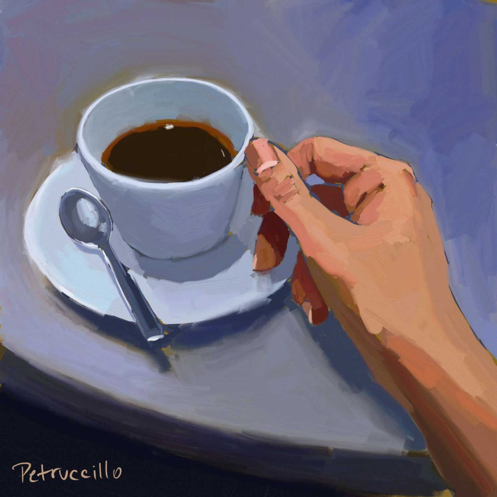Daily Painting Challenge - My Coffee Cup -Day 88 - Rachel Petruccillo