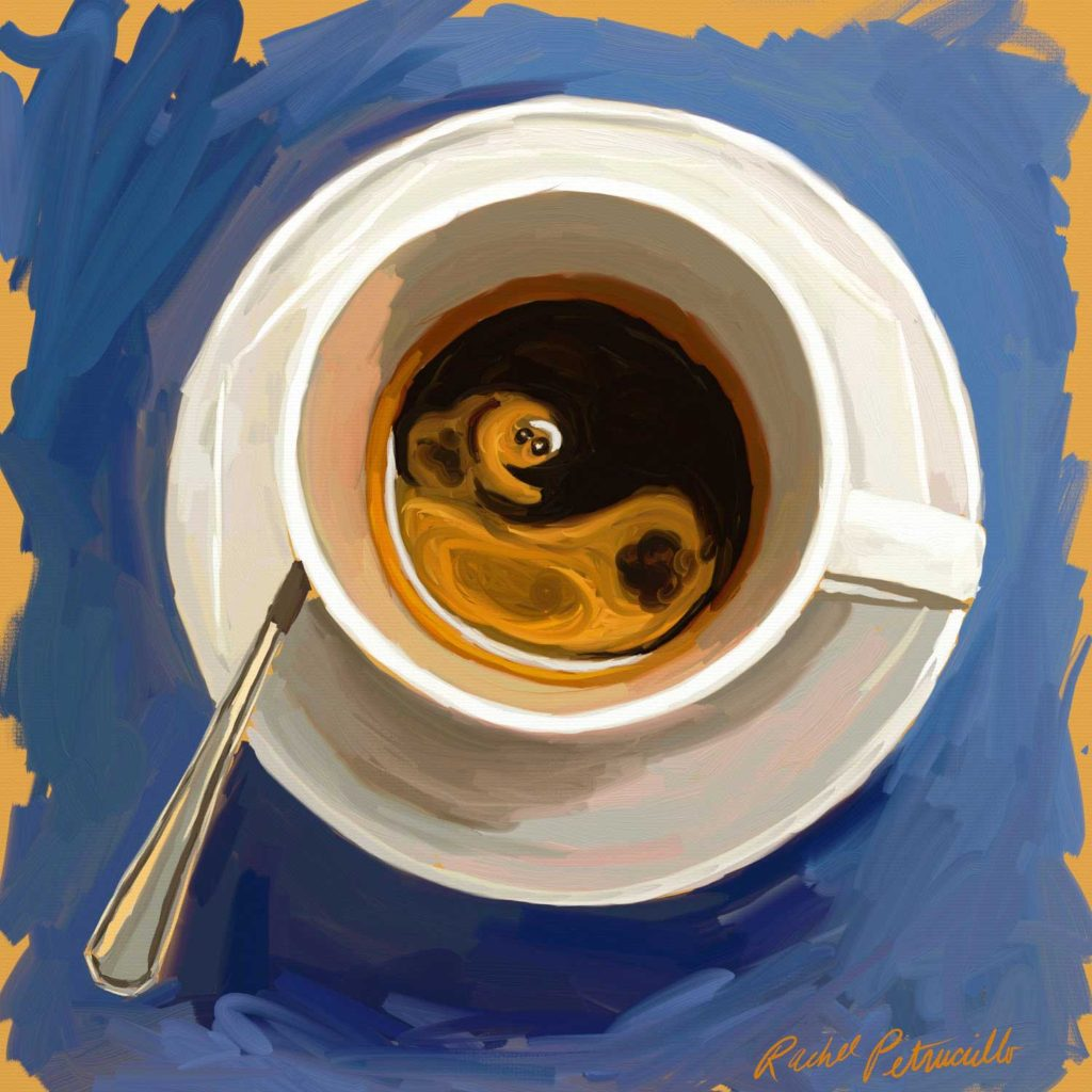 Daily Painting Challenge - My Coffee Cup -Day 84 - Rachel Petruccillo