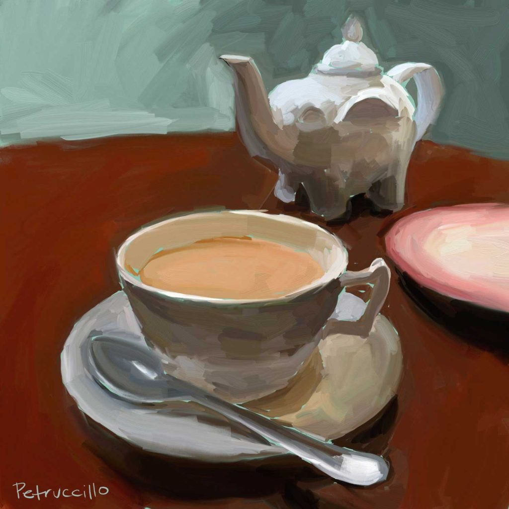 Daily Painting Challenge - My Coffee Cup -Day 86 - Rachel Petruccillo
