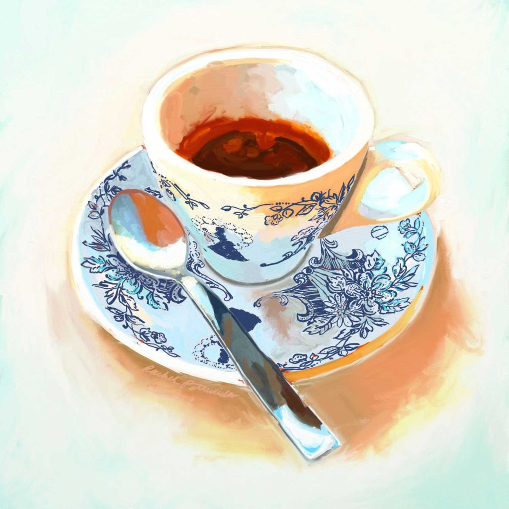Daily Painting Challenge - My Coffee Cup -Day 56 - Rachel Petruccillo
