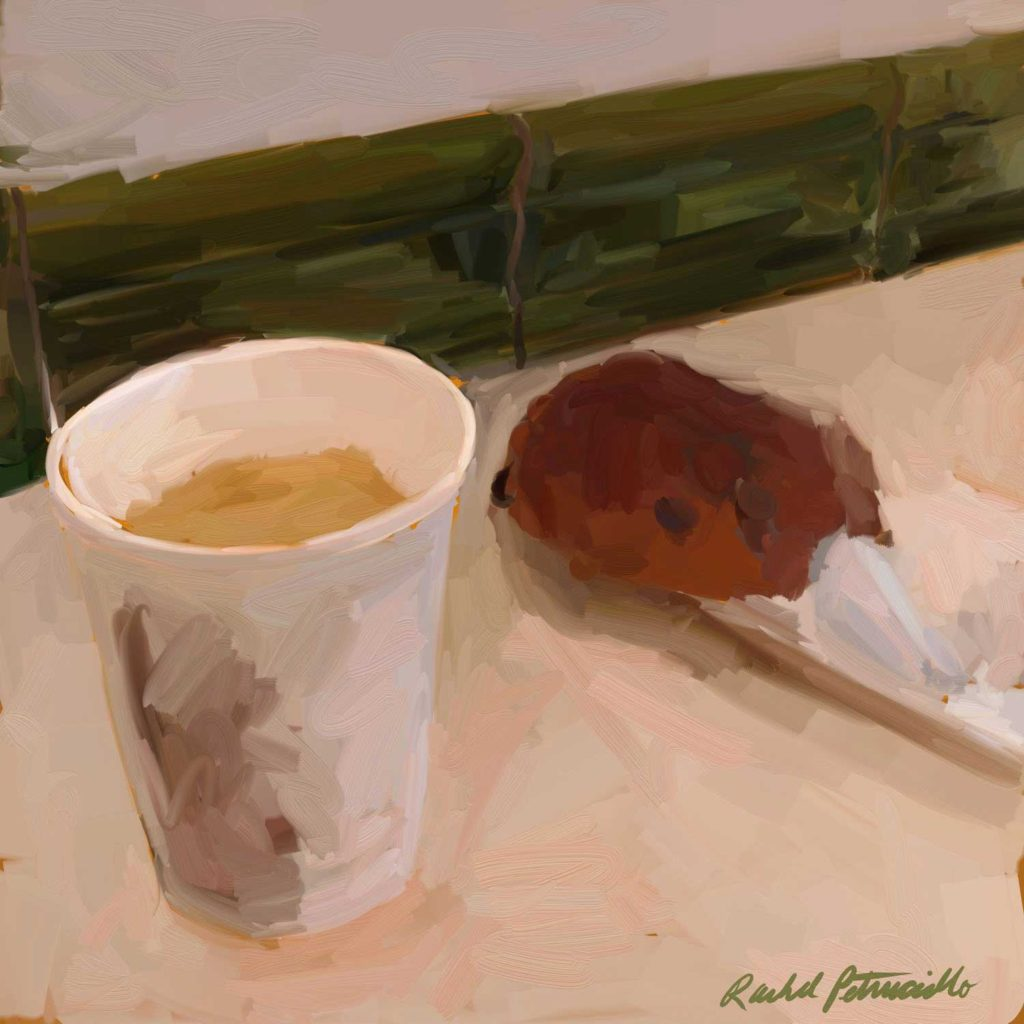 Daily Painting Challenge - My Coffee Cup -Day 85 - Rachel Petruccillo