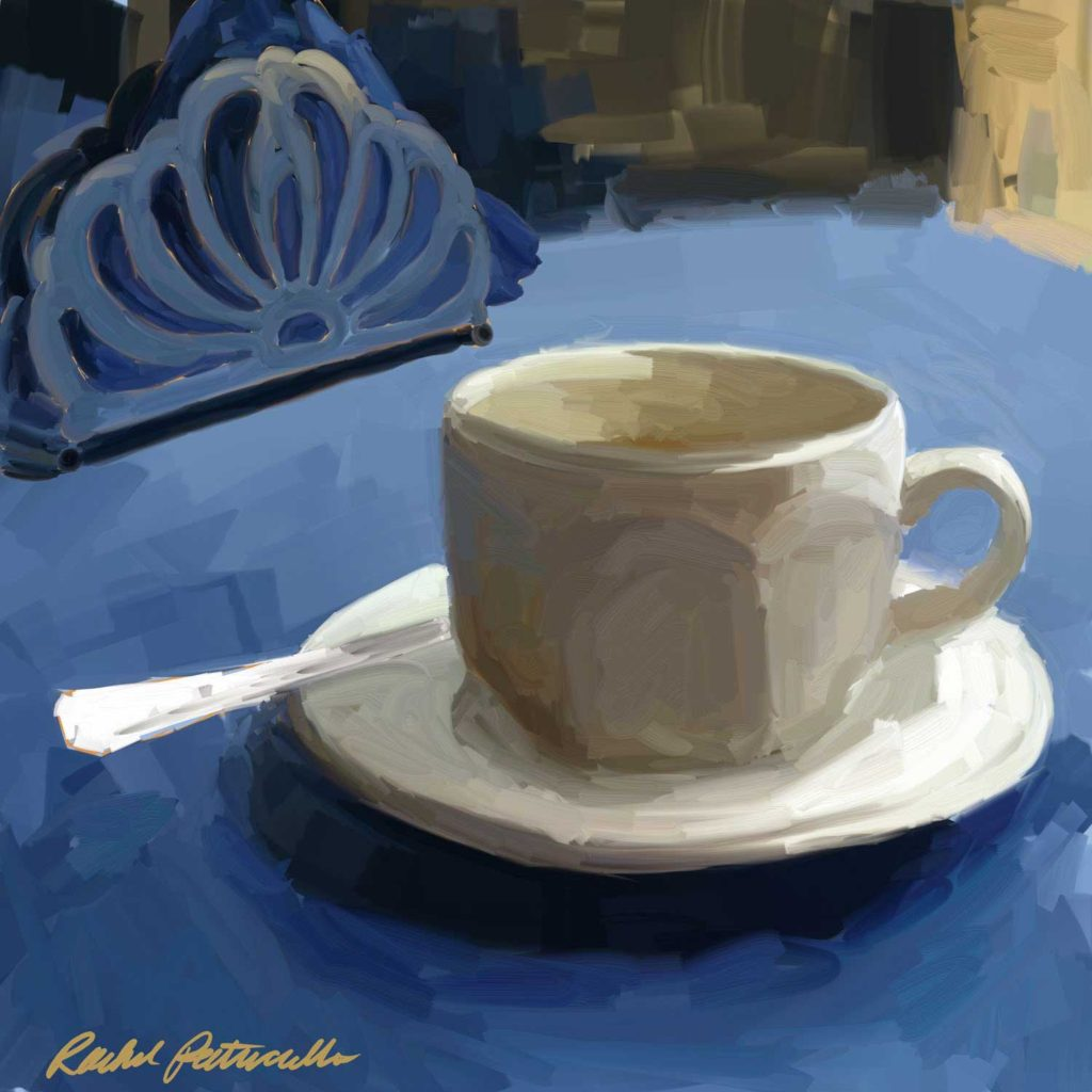 Daily Painting Challenge - My Coffee Cup -Day 89 - Rachel Petruccillo