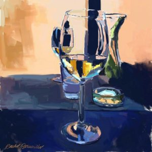 Daily Painting Challenge - My Wine Glass - Day 78 - Rachel Petruccillo