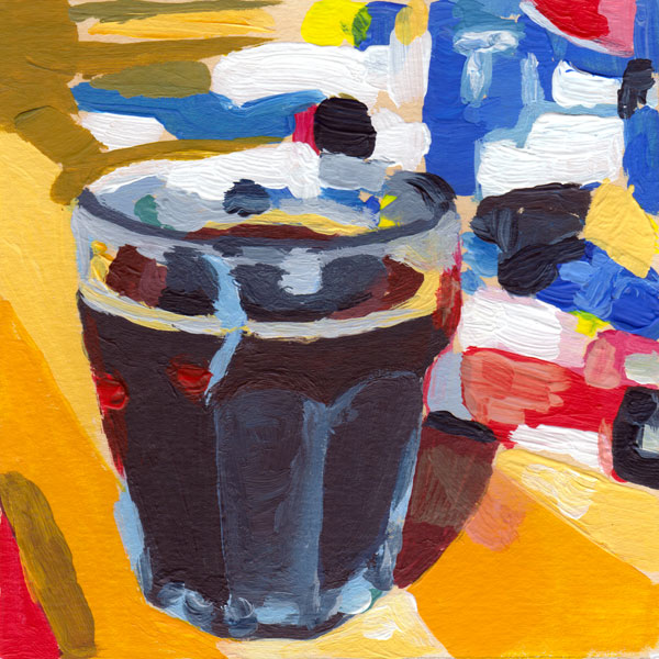 Daily Painting Challenge - My Coffee Cup #cuppadaypainting -Day 11 - Rachel Petruccillo