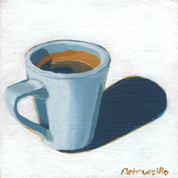 acrylic painting of a cup of coffee