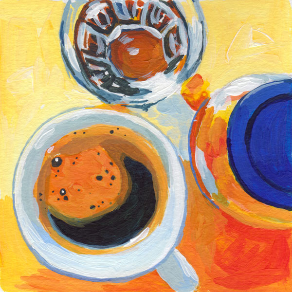 Daily Painting Challenge - My Coffee Cup #cuppadaypainting -Day 22 - Rachel Petruccillo