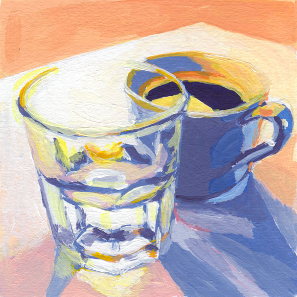 Daily Painting Challenge - My Coffee Cup #cuppadaypainting -Day 23 - Rachel Petruccillo
