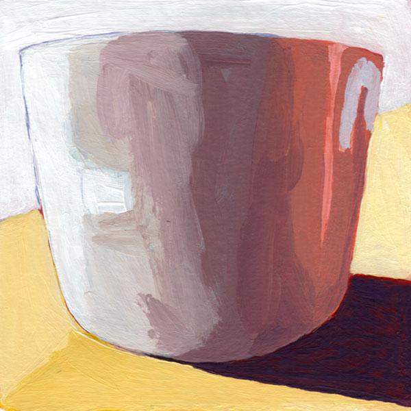 Daily Painting Challenge - My Coffee Cup #cuppadaypainting -Day 28 - Rachel Petruccillo