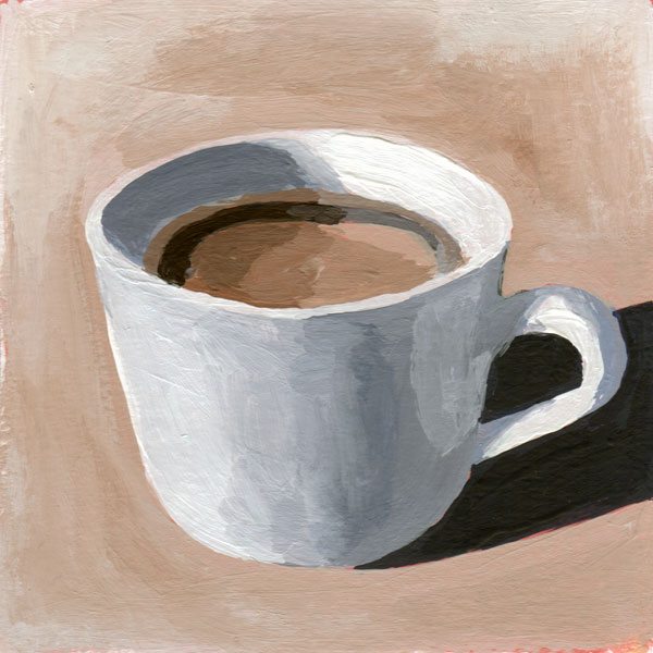 Daily Painting Challenge - My Coffee Cup #cuppadaypainting -Day 34 - Rachel Petruccillo