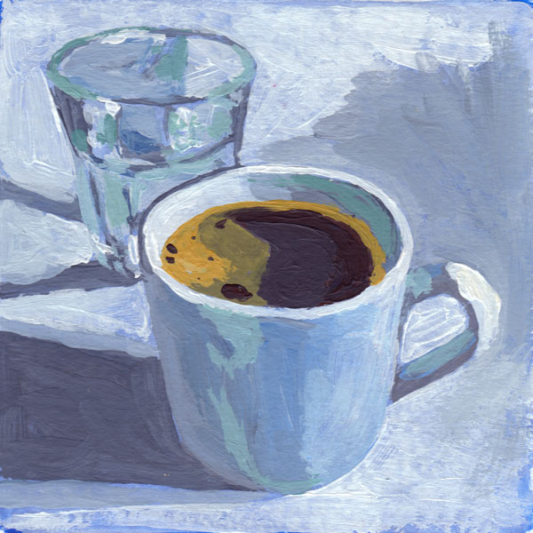 Daily Painting Challenge - My Coffee Cup #cuppadaypainting -Day 35 - Rachel Petruccillo