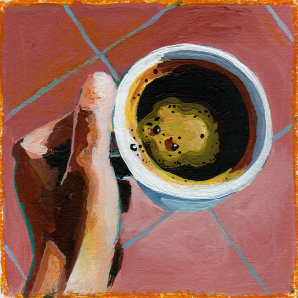 Daily Painting Challenge - My Coffee Cup #cuppadaypainting -Day 37 - Rachel Petruccillo
