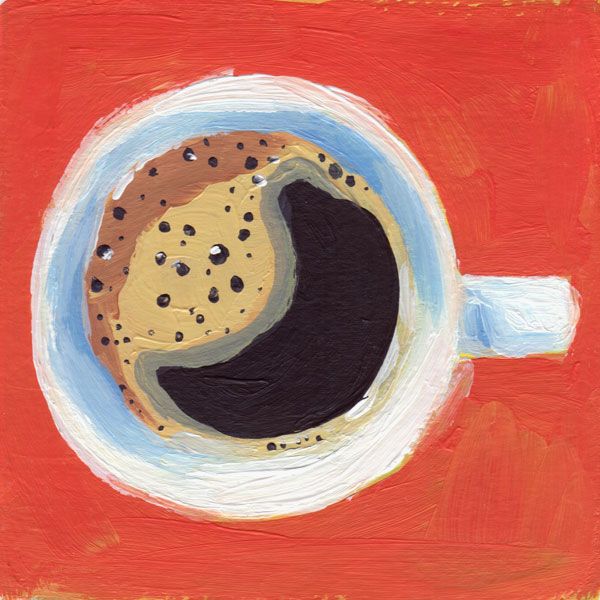 Daily Painting Challenge - My Coffee Cup #cuppadaypainting -Day 41 - Rachel Petruccillo