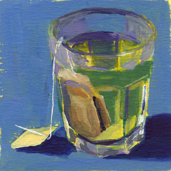 Daily Painting Challenge - My Coffee Cup #cuppadaypainting -Day 55 - Rachel Petruccillo