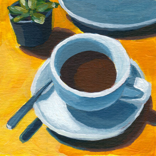 Daily Painting Challenge - My Coffee Cup #cuppadaypainting -Day 65 - Rachel Petruccillo