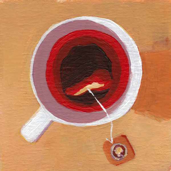 Daily Painting Challenge - My Coffee Cup #cuppadaypainting -Day 71 - Rachel Petruccillo