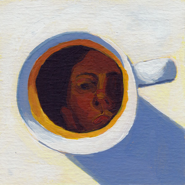 Daily Painting Challenge - My Coffee Cup #cuppadaypainting -Day 74 - Rachel Petruccillo