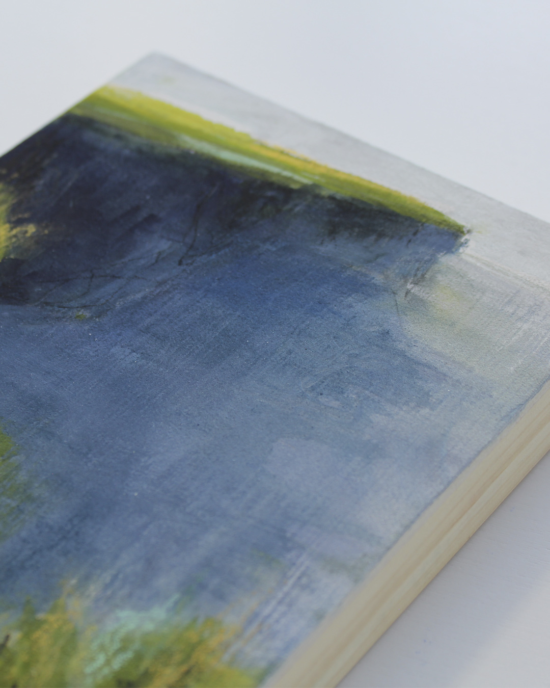 mixed media painting, rising out of the mist, cliffs of moher, ireland