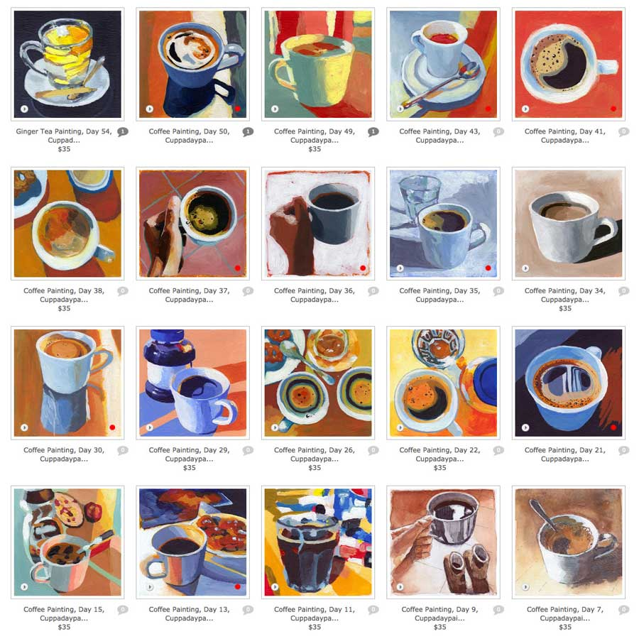 cuppaday painting series (cups & glasses)