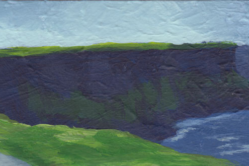 panoramic painting of the Cliffs of Moher in Ireland