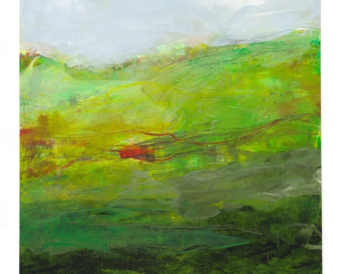 abstract landscape painting inspired ireland