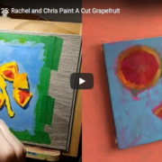 artists rachel petruccillo and christpher long painting a still life on youtube