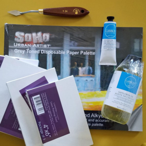 solvent-free oil painting supplies