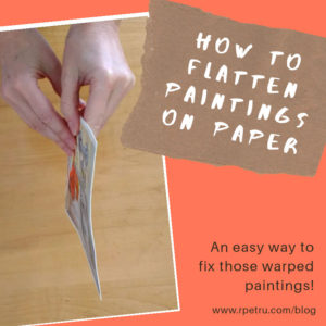 How to Flatten Paintings on Paper