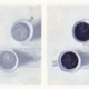 diptych coffee cup oil paintings