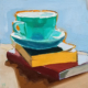 cup on books 3