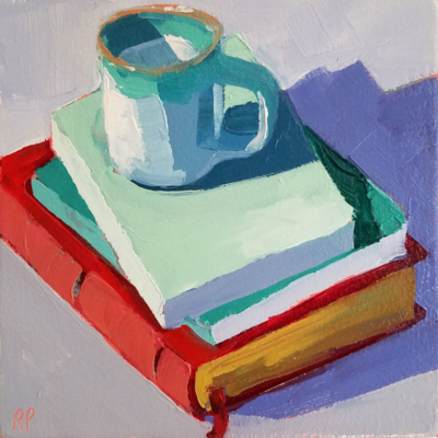 cup with 3 books 39