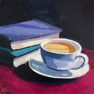 coffee with 2 books 15